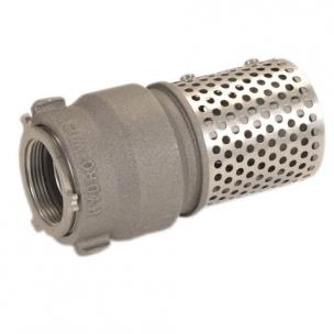 Foot valve strainer