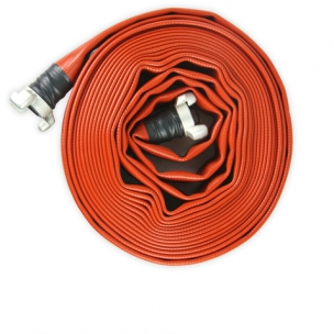 Firefighter hose of 10m x 70 mm with 3 layers